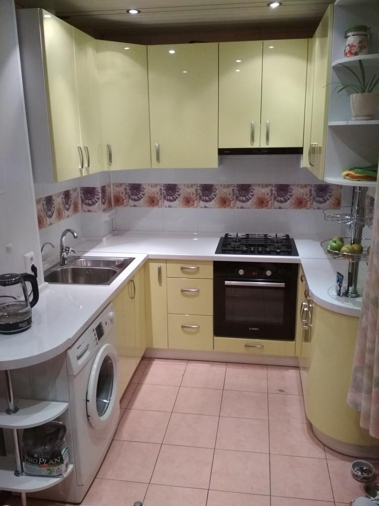 Встроенная кухня-Кухня МДФ в ПВХ «Модель 184»-фото1