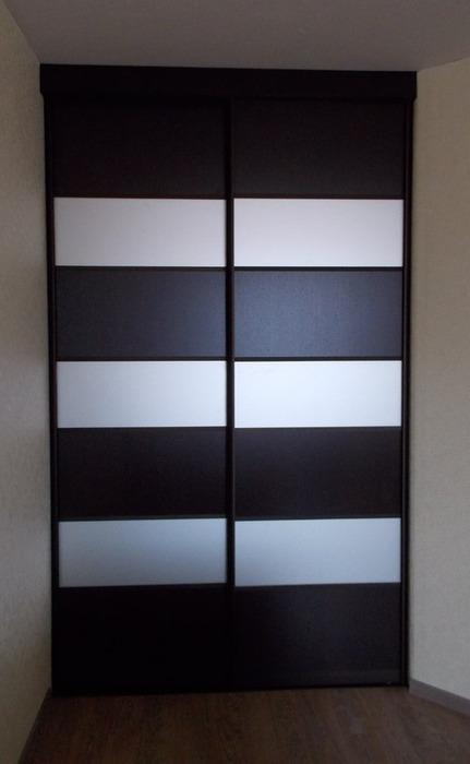 Встроенные шкафы-купе-Шкаф-купе из ЛДСП «Модель 68»-фото1