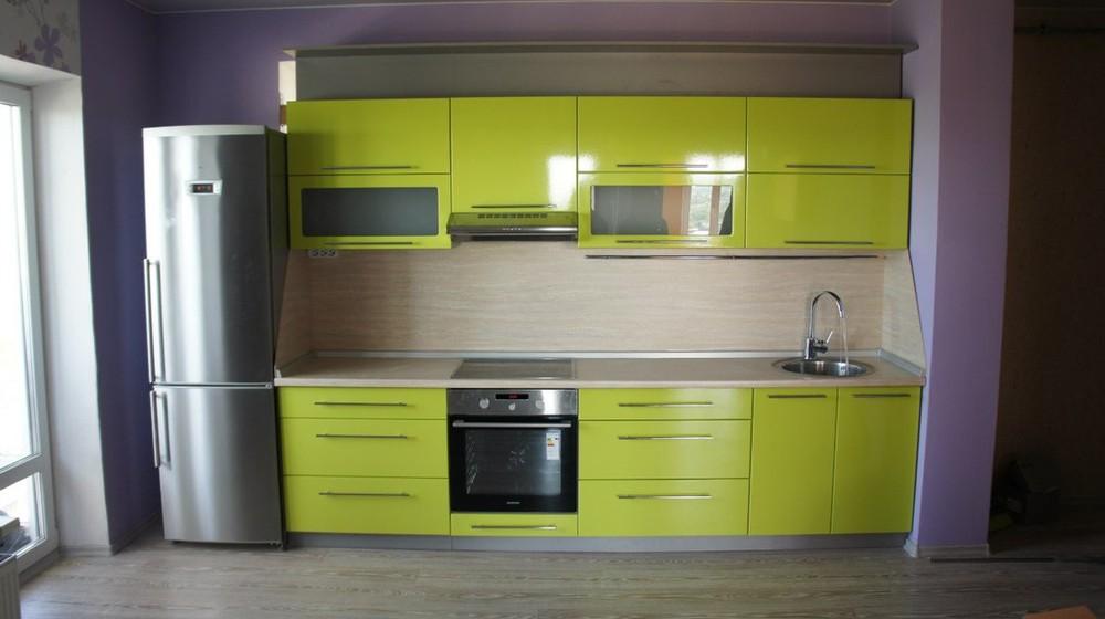 Встроенная кухня-Кухня МДФ в ПВХ «Модель 197»-фото1