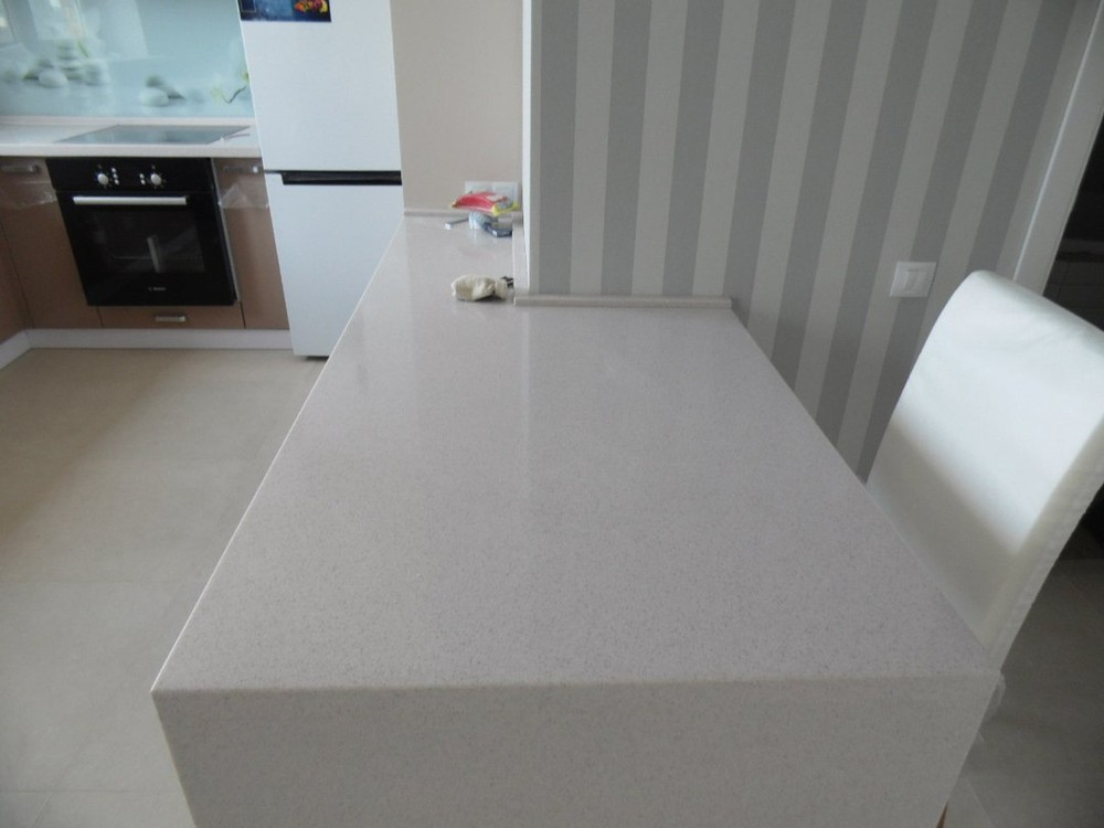 Белый кухонный гарнитур-Кухня МДФ в эмали «Модель 199»-фото2