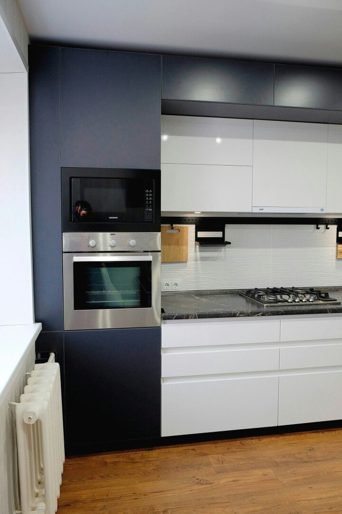 Белый кухонный гарнитур-Кухня МДФ в ПВХ «Модель 81»-фото4