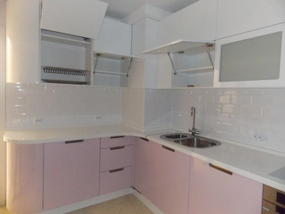 Белый кухонный гарнитур-Кухня МДФ в ПВХ «Модель 193»-фото8