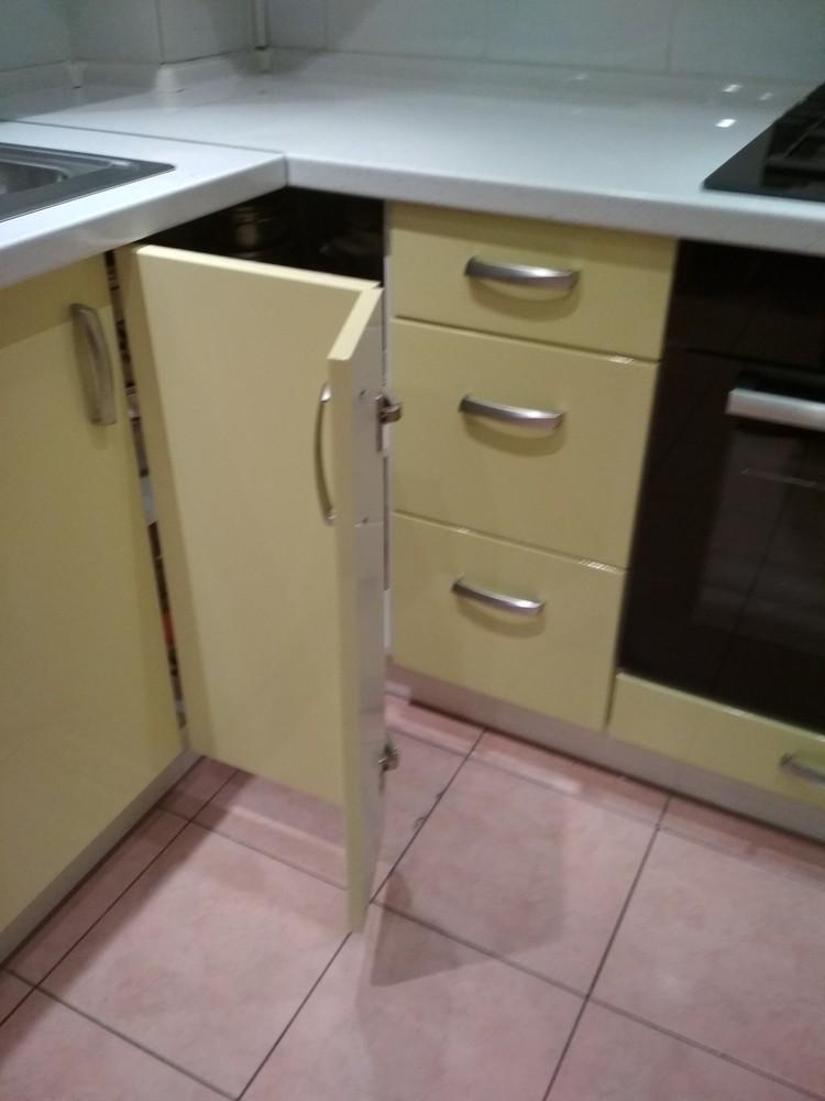 Встроенная кухня-Кухня МДФ в ПВХ «Модель 184»-фото4
