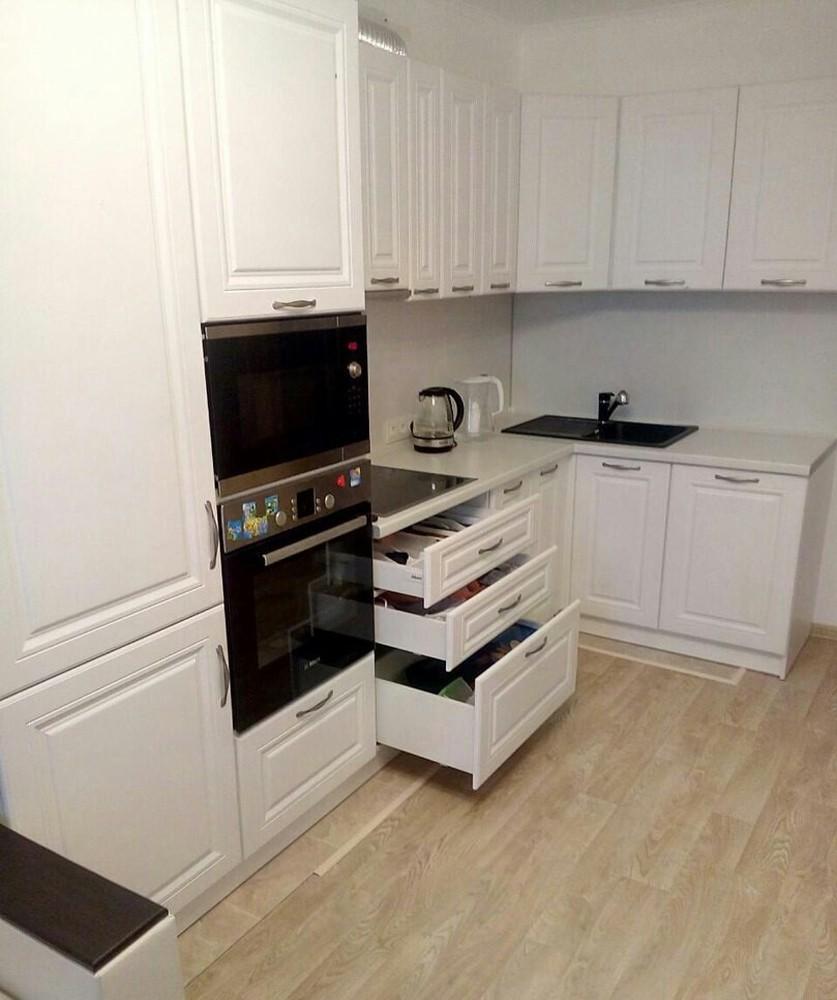 Акриловые кухни-Кухня МДФ в эмали «Модель 166»-фото3