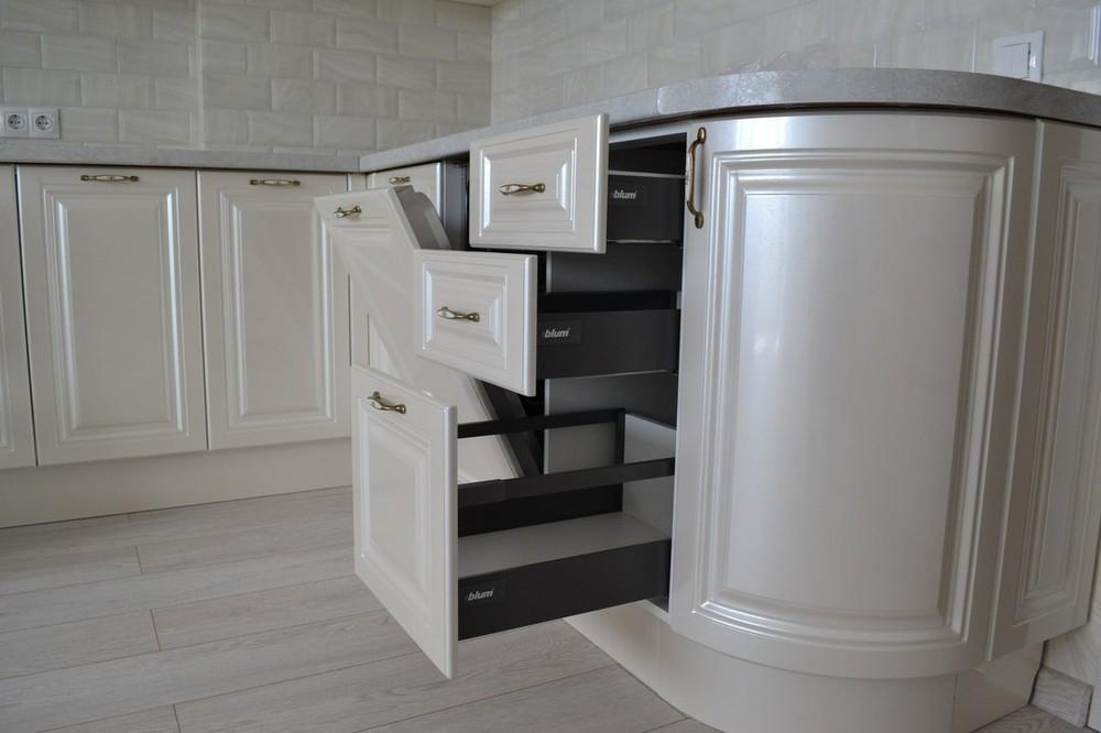 Белый кухонный гарнитур-Кухня МДФ в ПВХ «Модель 204»-фото5