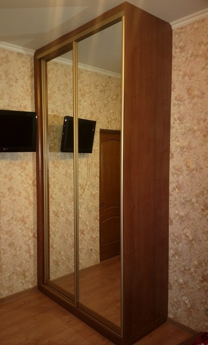 Двухдверный шкаф-купе-Шкаф-купе с зеркалом «Модель 186»-фото2