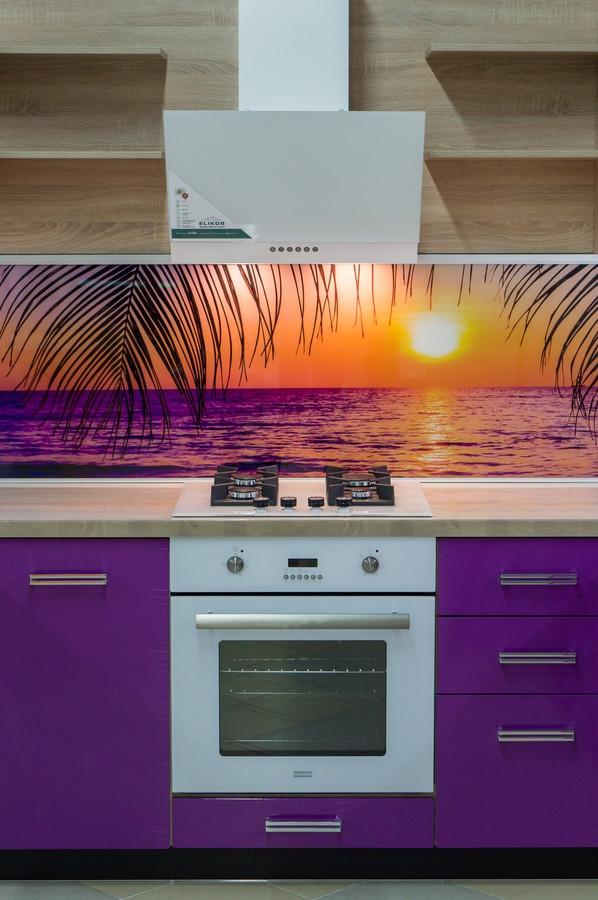 Белый кухонный гарнитур-Кухня МДФ в ПВХ «Модель 45»-фото3