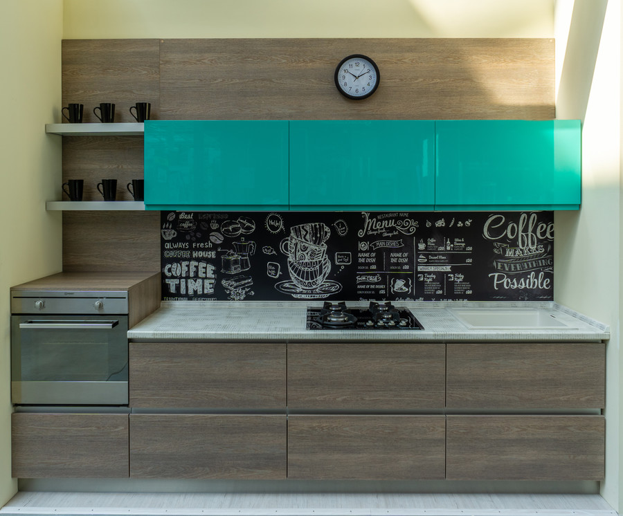 Встроенная кухня-Кухня МДФ в эмали «Модель 49»-фото2