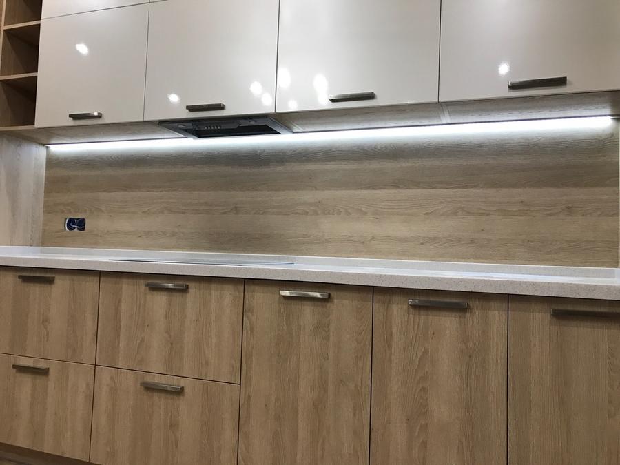 Белый кухонный гарнитур-Кухня МДФ в ПВХ «Модель 67»-фото4