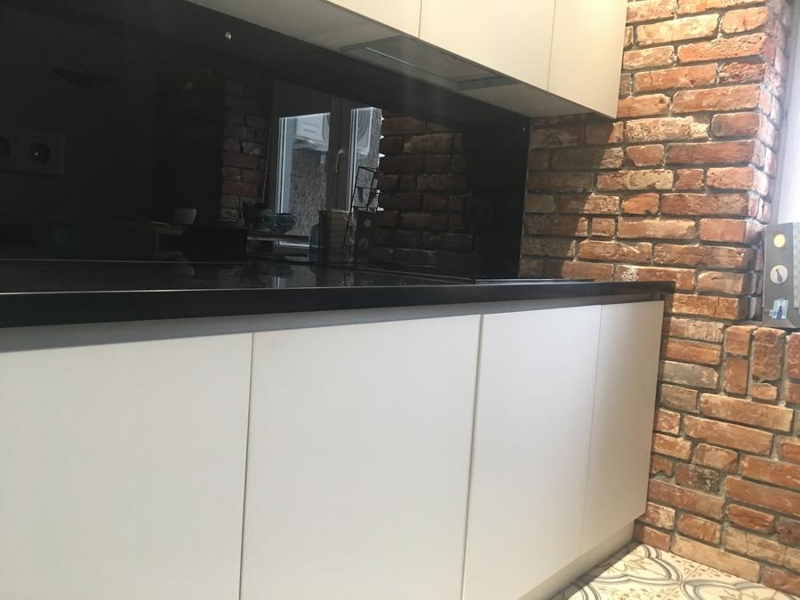 Белый кухонный гарнитур-Кухня МДФ в ПВХ «Модель 66»-фото3