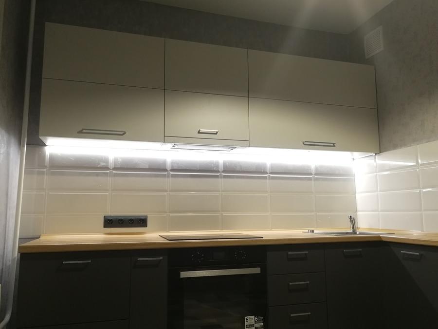 Купить зеленую кухню-Кухня МДФ в пластике «Модель 19»-фото3