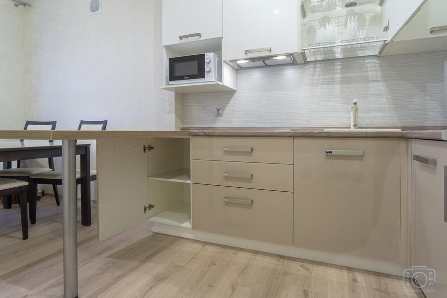Бежевые кухни-Кухня из пластика «Модель 1»-фото5