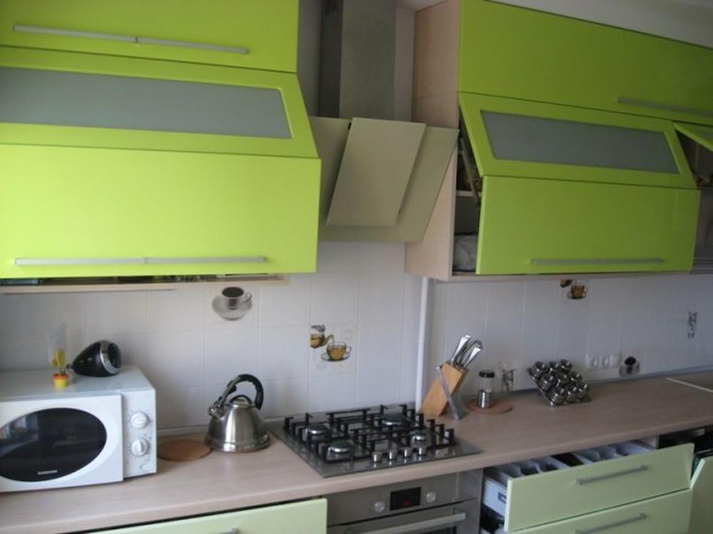 Встроенная кухня-Кухня МДФ в эмали «Модель 103»-фото1