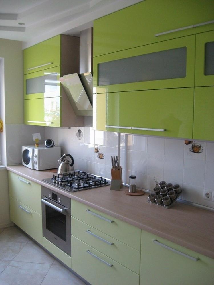 Встроенная кухня-Кухня МДФ в эмали «Модель 103»-фото2