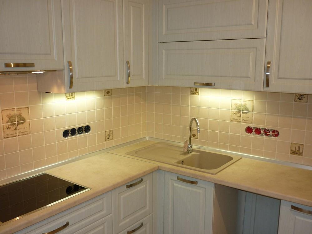 Белый кухонный гарнитур-Кухня МДФ в ПВХ «Модель 290»-фото7