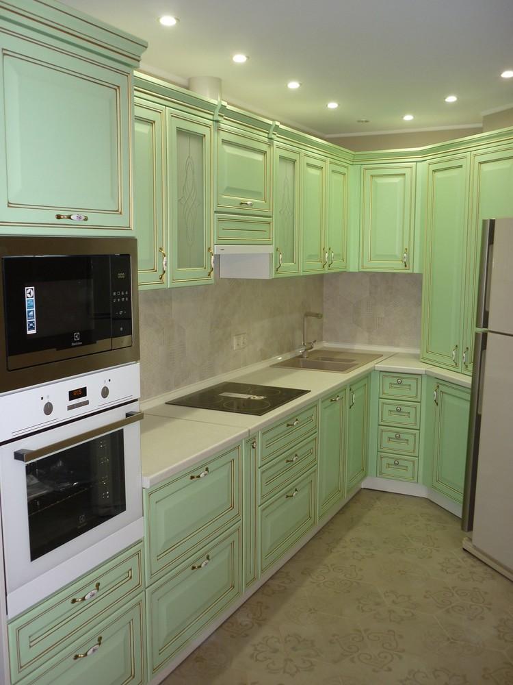 Встроенная кухня-Кухня МДФ в ПВХ «Модель 326»-фото4