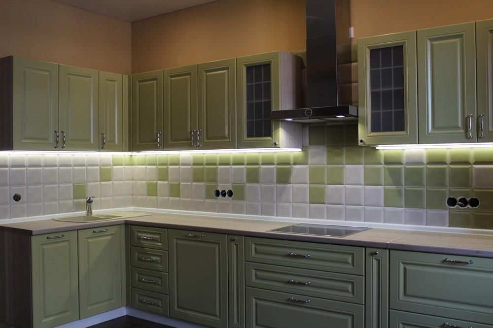 Встроенная кухня-Кухня МДФ в ПВХ «Модель 91»-фото2