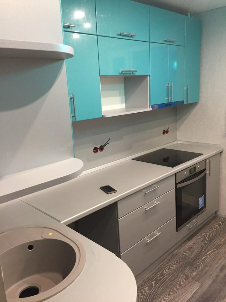 Встроенная кухня-Кухня МДФ в ПВХ «Модель 357»-фото2