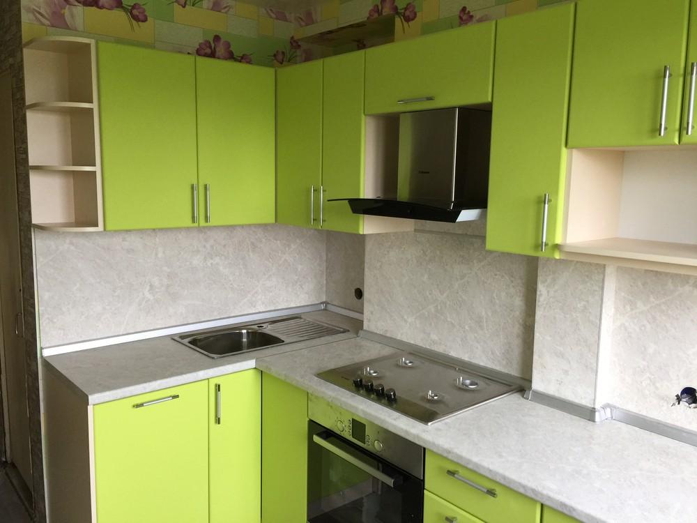 Встроенная кухня-Кухня МДФ в ПВХ «Модель 360»-фото1