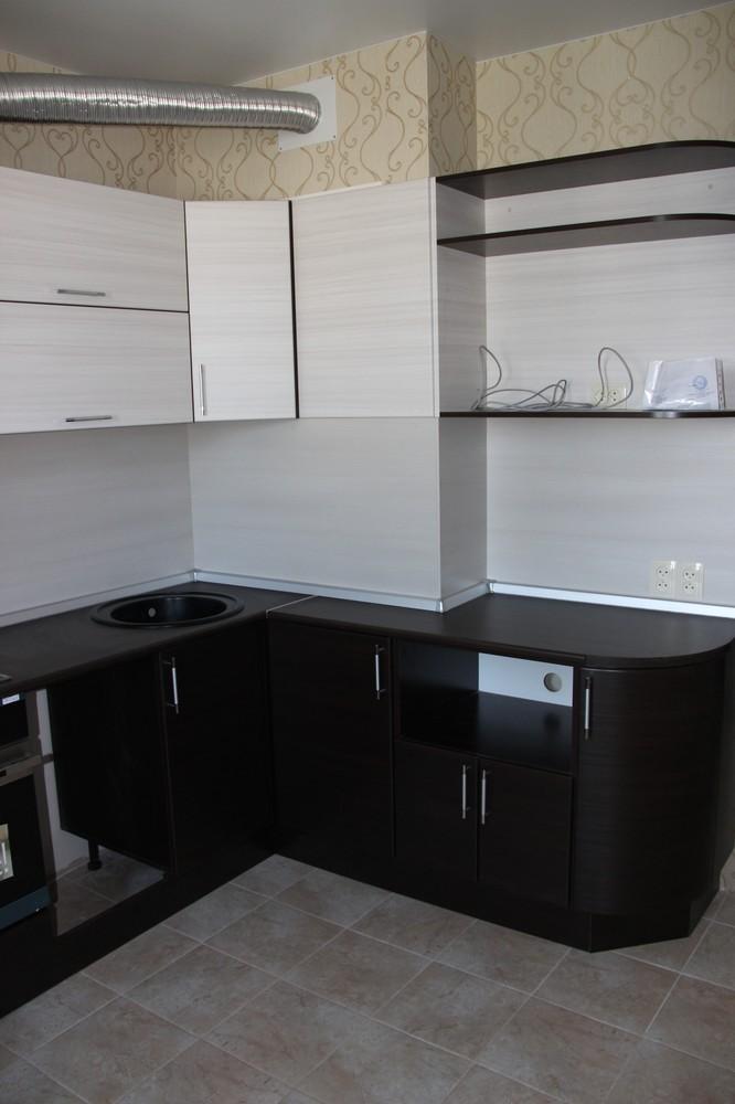 Встроенная кухня-Кухня МДФ в ПВХ «Модель 363»-фото3