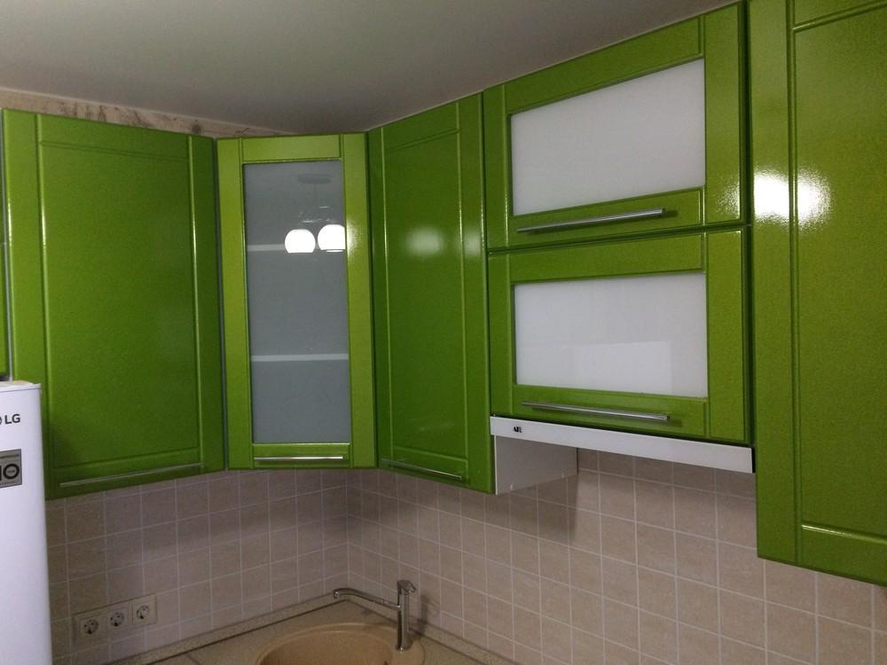 Встроенная кухня-Кухня МДФ в эмали «Модель 309»-фото4