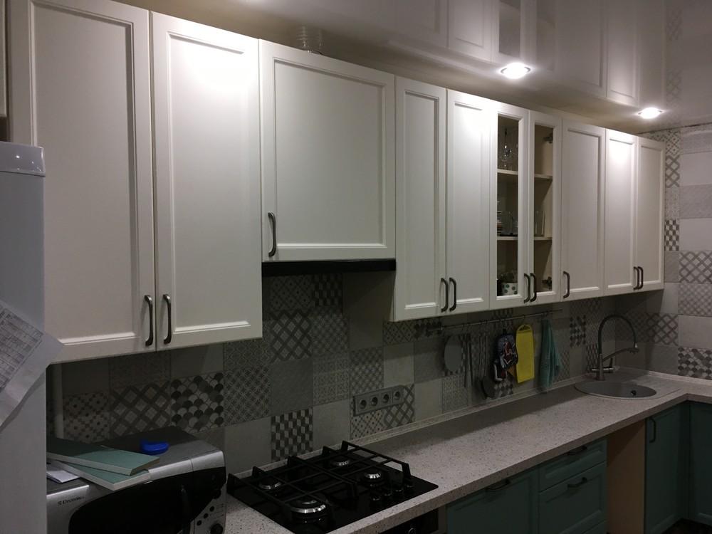 Белый кухонный гарнитур-Кухня МДФ в эмали «Модель 321»-фото1