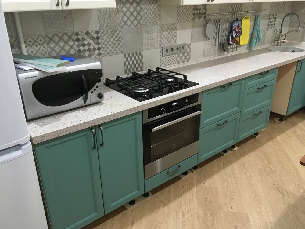 Белый кухонный гарнитур-Кухня МДФ в эмали «Модель 321»-фото2