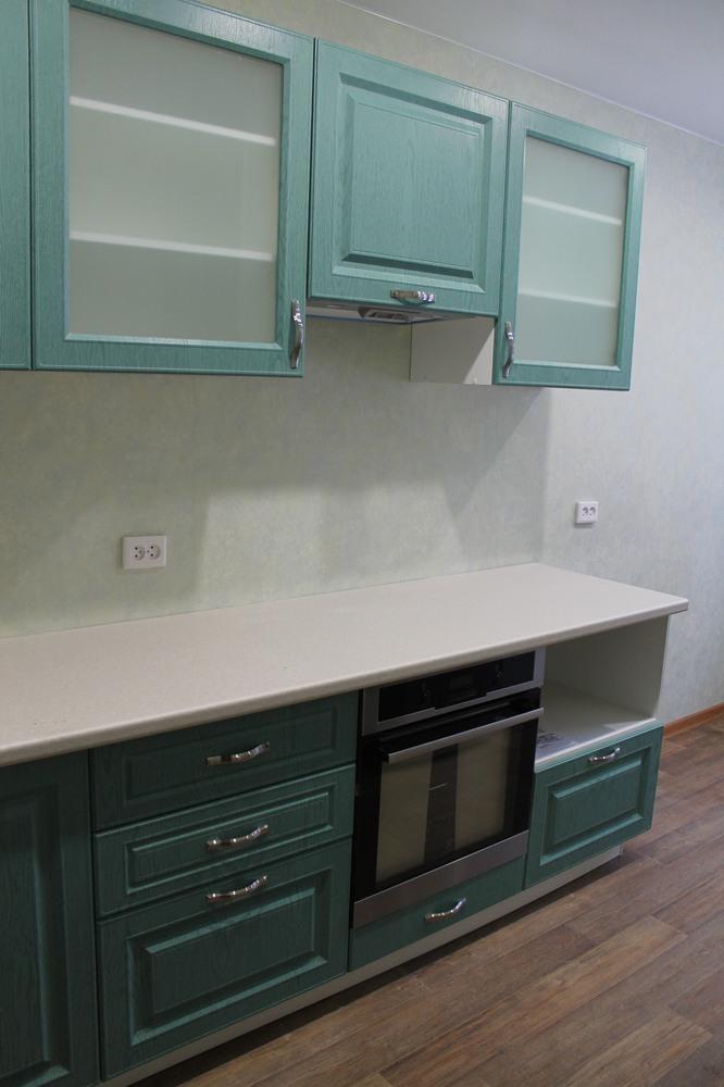 Классические кухни-Кухня МДФ в ПВХ «Модель 338»-фото4