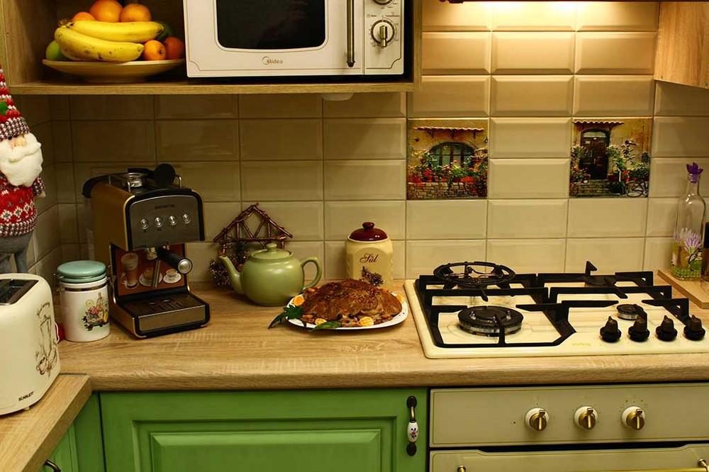 Встроенная кухня-Кухня МДФ в эмали «Модель 120»-фото5