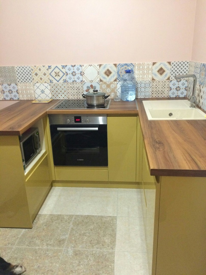 Глянцевые кухни-Кухня МДФ в эмали «Модель 90»-фото1