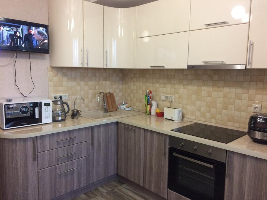 Белый кухонный гарнитур-Кухня МДФ в ПВХ «Модель 170»-фото2