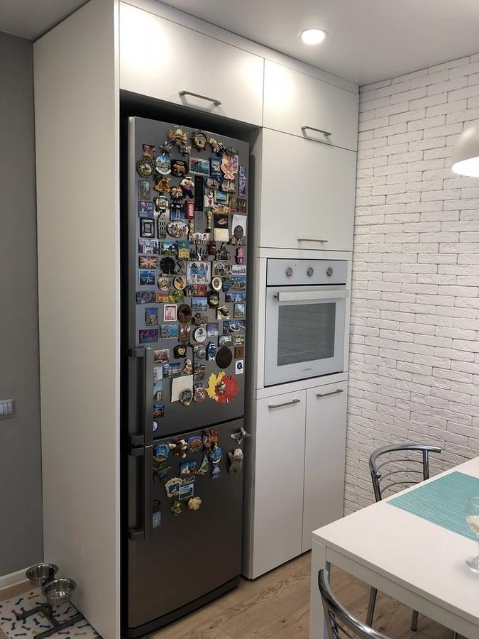 Белый кухонный гарнитур-Кухня МДФ в ПВХ «Модель 121»-фото4