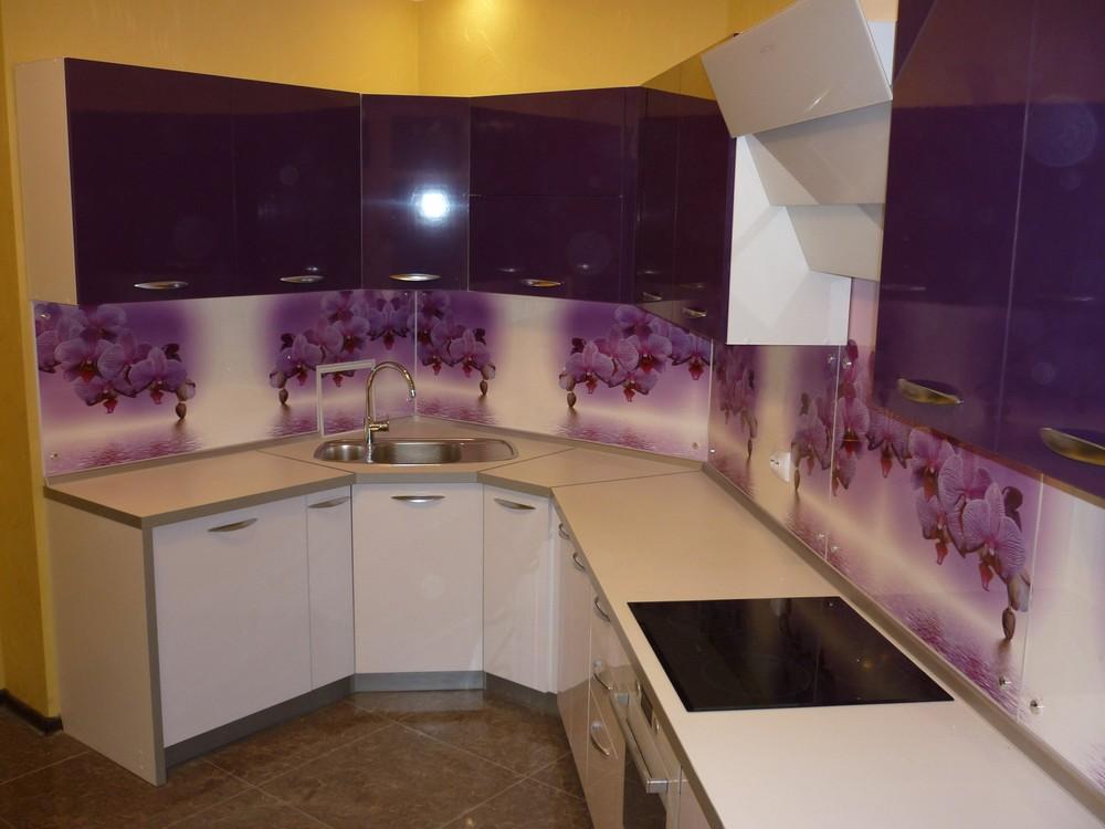 Акриловые кухни-Кухня из пластика «Модель 207»-фото3