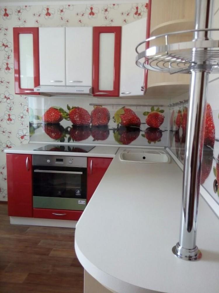 Встроенная кухня-Кухня МДФ в ПВХ «Модель 256»-фото3