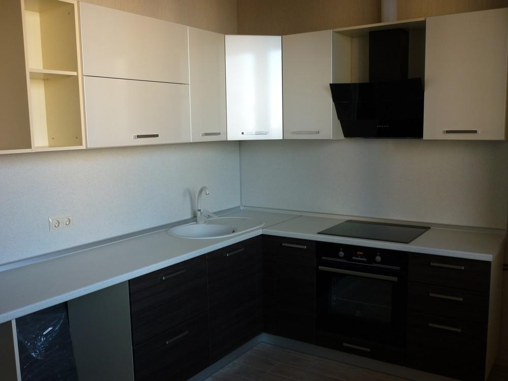 Встроенная кухня-Кухня МДФ в ПВХ «Модель 233»-фото1