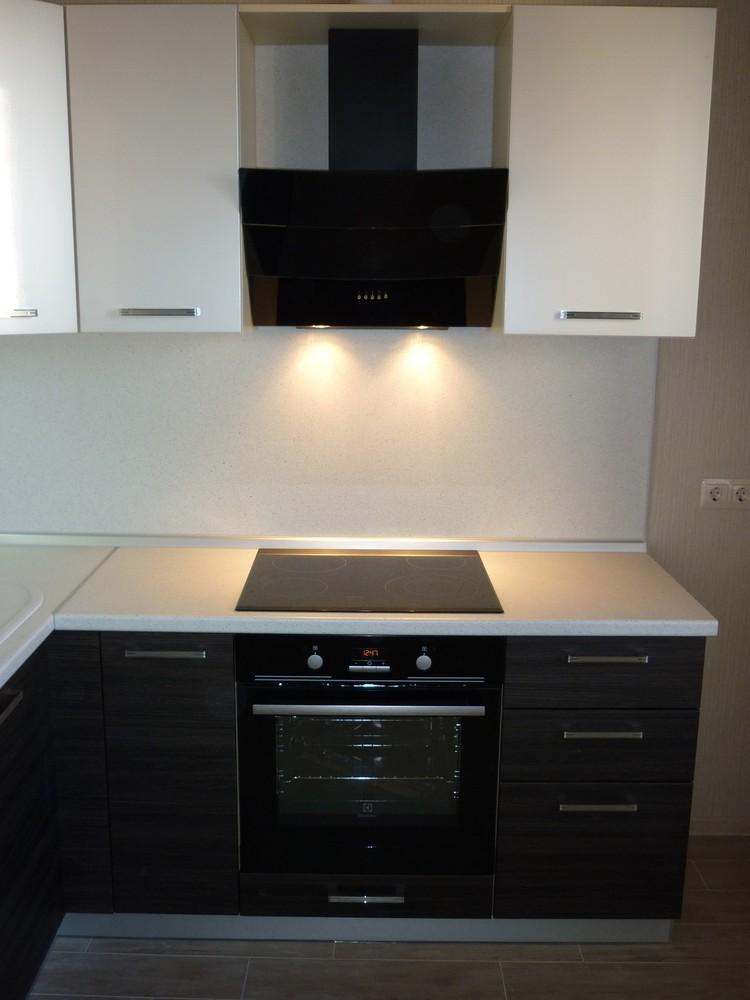 Встроенная кухня-Кухня МДФ в ПВХ «Модель 233»-фото2