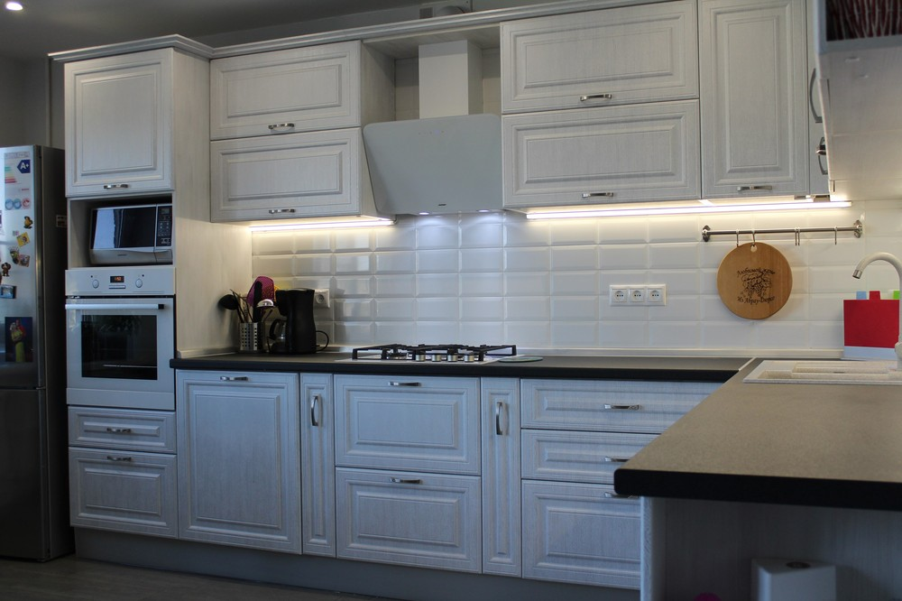 Белый кухонный гарнитур-Кухня МДФ в ПВХ «Модель 231»-фото4