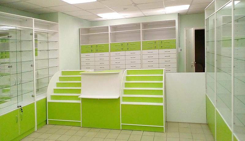 Торговая мебель-Мебель для аптеки «Модель 186»-фото4