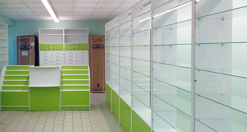 Торговая мебель-Мебель для аптеки «Модель 186»-фото5