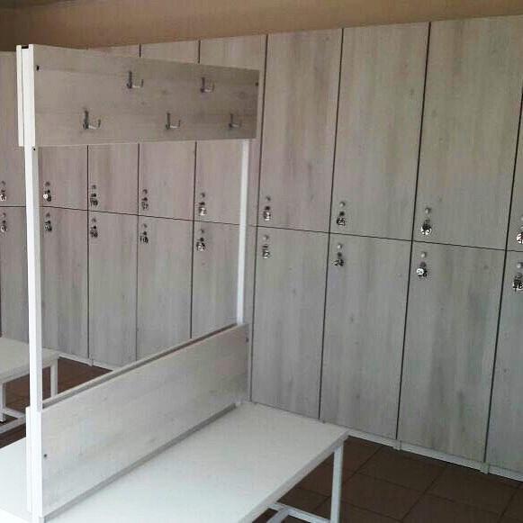 Торговая мебель-Шкафчики для раздевалки «Модель 159»-фото1