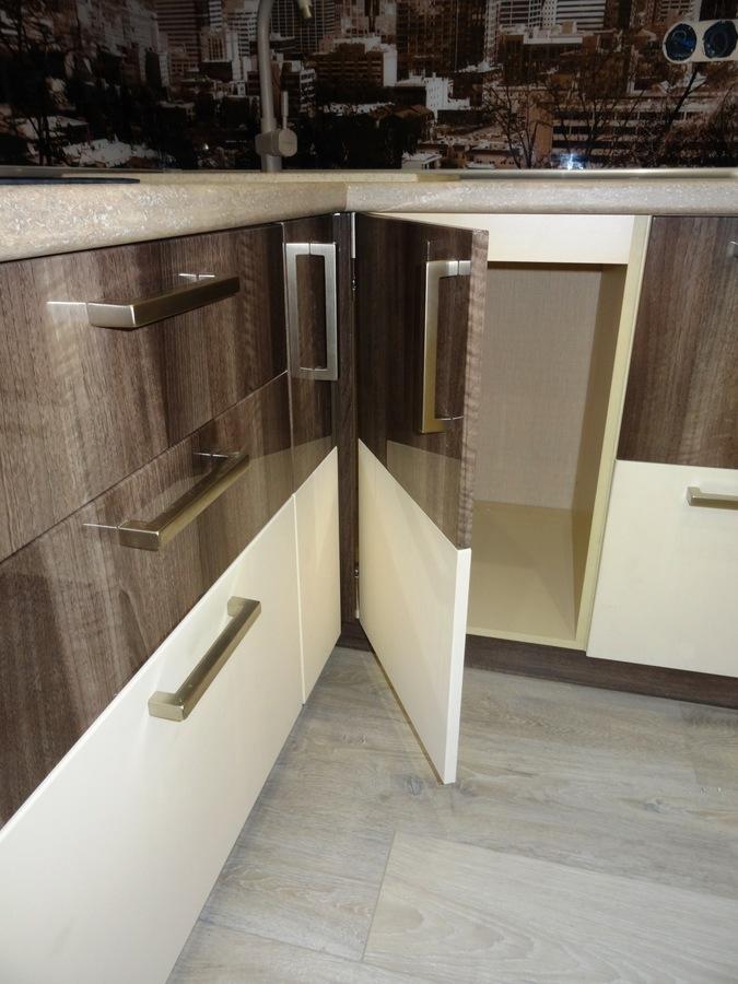 Белый кухонный гарнитур-Кухня МДФ в эмали «Модель 485»-фото8
