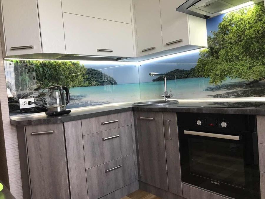 Белый кухонный гарнитур-Кухня из ЛДСП «Модель 89»-фото1
