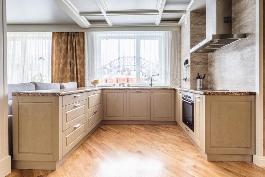 Классические кухни-Кухня из массива дуба «Модель 403»-фото1