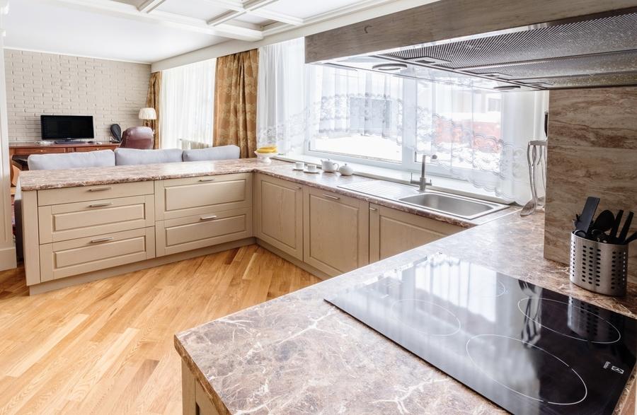 Классические кухни-Кухня из массива дуба «Модель 403»-фото3