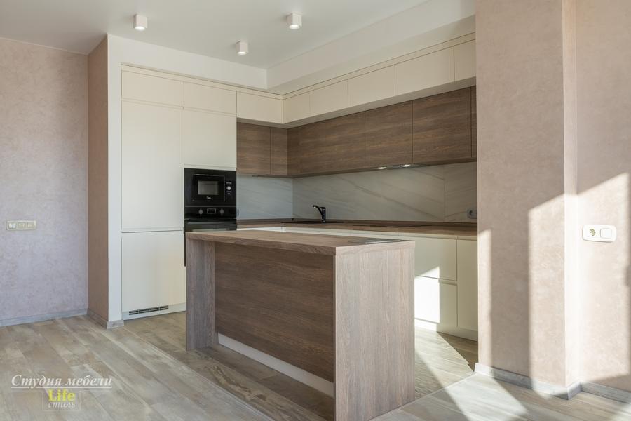 Белый кухонный гарнитур-Кухня из ЛДСП «Модель 424»-фото1