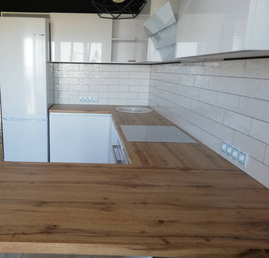 Белый кухонный гарнитур-Кухня МДФ в эмали «Модель 380»-фото5