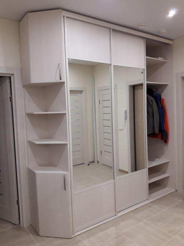 Белые шкафы-купе-Шкаф-купе с зеркалом «Модель 239»-фото2