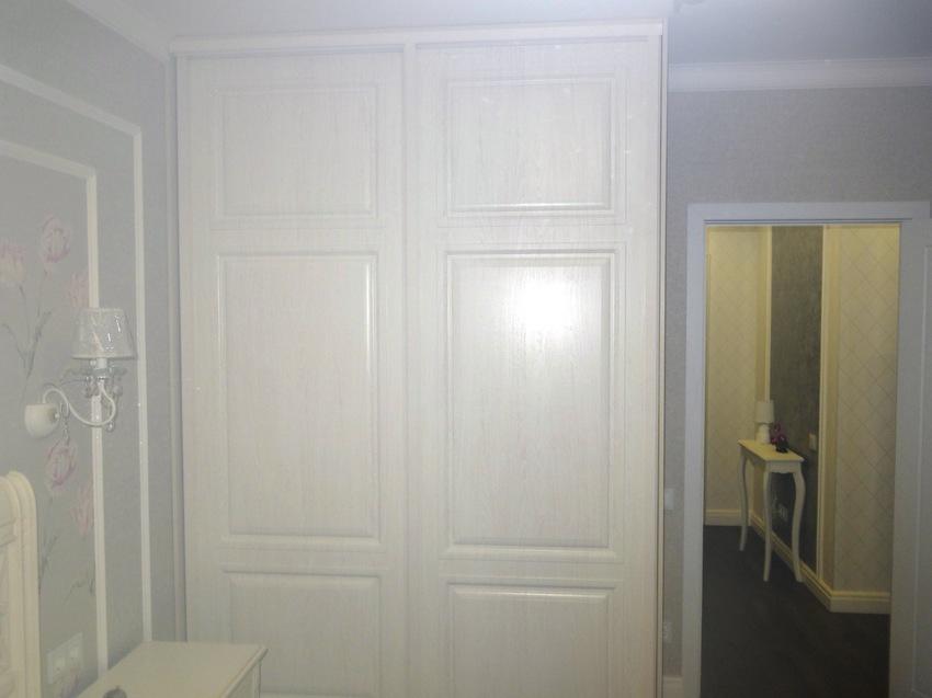 Белые шкафы-купе-Шкаф-купе МДФ «Модель 466»-фото2