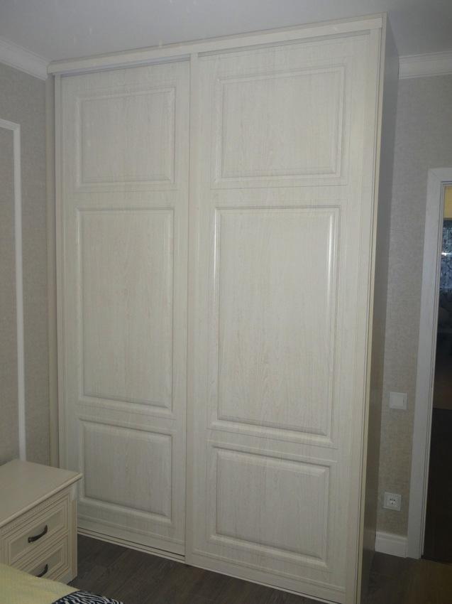 Белые шкафы-купе-Шкаф-купе МДФ «Модель 466»-фото1