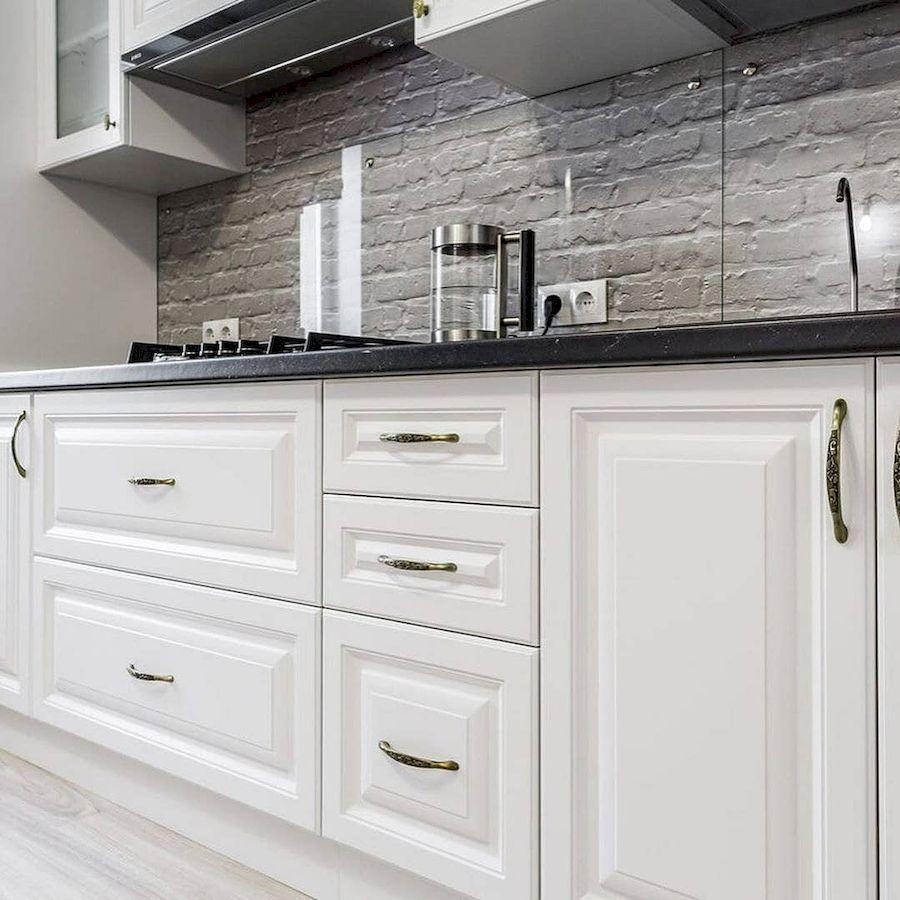 Белый кухонный гарнитур-Кухня МДФ в эмали «Модель 641»-фото3